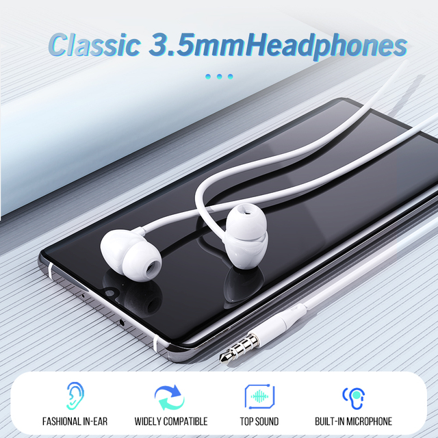 Universal Stereo Bass Earphone Headphone 3.5mm with Microphone Wired Control Gaming Headset For Samsung Xiaomi Sports In-ear MP3 5