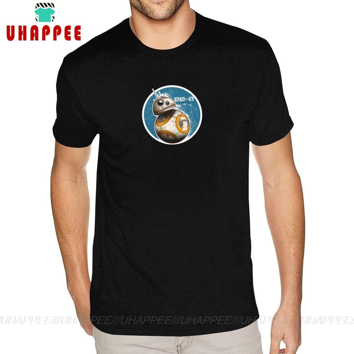 Creat Own BB-8 On The Move Tees, футболка большого размера для мальчиков, черная футболка
