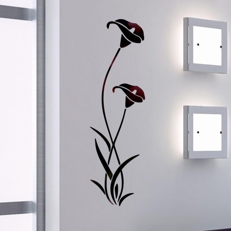 3D DIY Blume Form Acryl Wand Aufkleber Moderne Dekoration Wohnzimmer Abnehmbare Wandbild Tapete Kunst Abziehbilder - 5