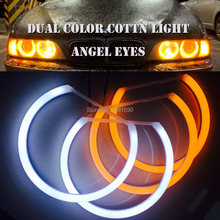 2x131mm 2x146mm cotton light dual color halo ring angel eyes