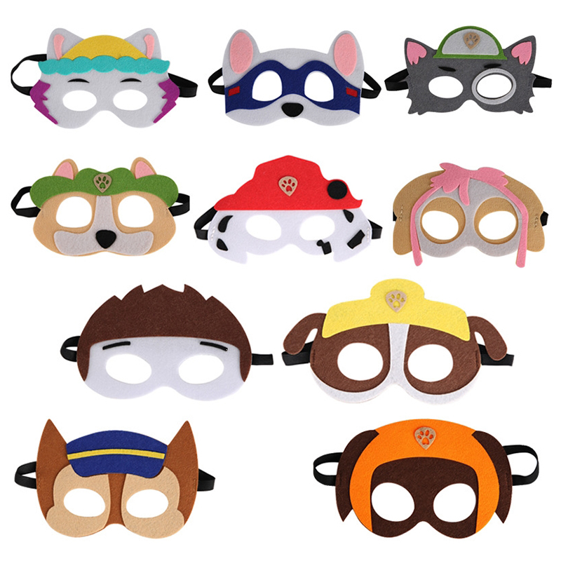 Paw Patrol Birthday Gift Mask Marshall Cape Cloak Everest Cosplay Christmas Halloween Party Decoration Kids Christmas Gift Toys
