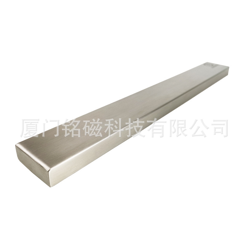 Manufacturer Retail Kitchen Wall Hanging 304 Stainless Steel Magnet Knife Rest With Double-Sided Adhesive Hole Punched Magnetic