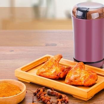 Elektrische Koffiemolen Mini Keuken Zout Peper Grinder Krachtige Spice Noten Zaden Koffieboon Malen Machine Eu Plug