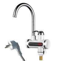 주방 tankless 온수기 220 v 3000 w 인스턴트 전기 수도꼭지 뜨거운 물 전기 빠른 히터 탭 온도 디스플레이 eu|포켓 익스텐더|   -