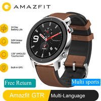 In Stock Global Version New Amazfit GTR 47mm Smart Watch 5ATM Smartwatch 12Days Battery Music Control For Android IOS