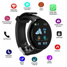 D18 Smart Watch Full Touch Clock Blood Pressure Heart Rate Monitor control Music