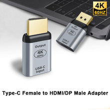 4k @ 60hz usb3.1 tipo c fêmea para hdmi/dp masculino adaptador conversor para macbook chromebook pixel computador portátil hdtv USB-C adaptador