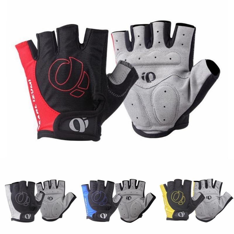 1 пара гелевые велосипедные перчатки с открытыми пальцами Нескользящие нескользящие спортивные перчатки с защитой от пота для велосипеда д...