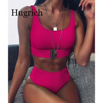 Sexy Women Tie Front Neon Slim Top And Bottoms Set Fashion Summer Seaside Swimsuits High Waist Casual Two-piece Bathing Suit women s suit europe and the united states tropical seaside beach holiday suit casual pajamas printing two piece set