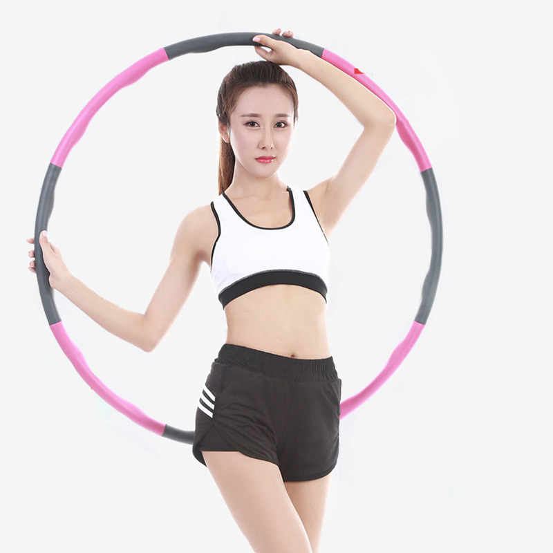 Detachable 8 Sections Foam Sport Hoops Gym Fitness Circle Slimming Adult Home Fitness Crossfit Bodybuilding Exercise Equipment