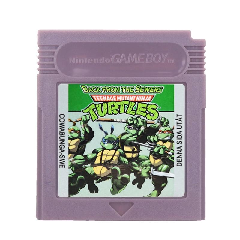 For Nintendo GBC Video Game Cartridge Console Card Teenage Mutant Ninja Turtles English Language Version 1