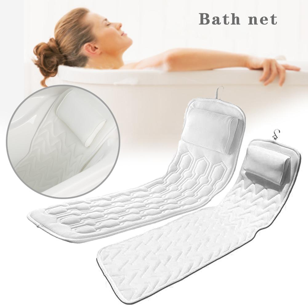 Bath Cushion For Tub - Extra-Large Full Body Bath Tub Pillow & Non-Slip Spa Bathtub Mat Mattress Pad With Super Thick Breathable