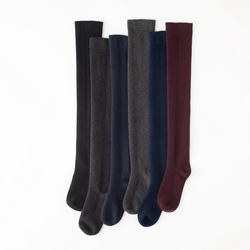 100%cashmere knit women stockings add long all matching solid color one&over size 52cm