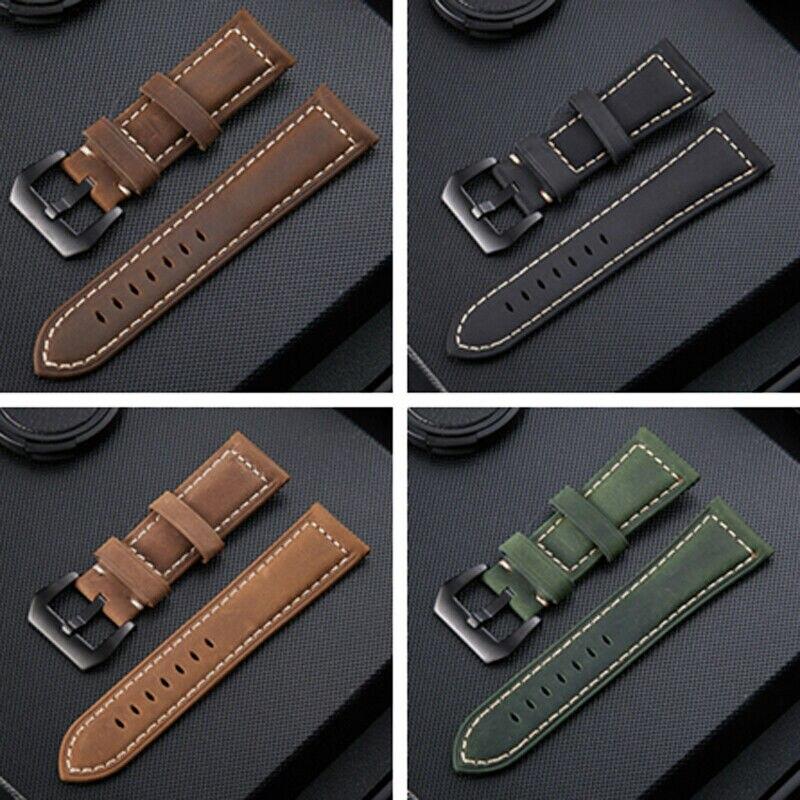 20 22 26 Mm Genuine Leather Watch Strap For Garmin Fenix 6x 5x 6 5 3 3HR 5s 6s GPS Smart Watch Replacement Watch Bracelet Band