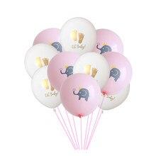 10 teile/los 12 zoll Nette Cartoon Blau Rosa Elefanten Latex Ballon Ohne Seil Baby Dusche Geburtstag DIY Party Dekorationen