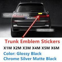 Novo cromo fosco brilhante preto m logotipo de energia emblema etiqueta do carro para bmw x1m x2m x3m x4m x5m x6m e36 e39 e46 e60 f10 emblema decalques