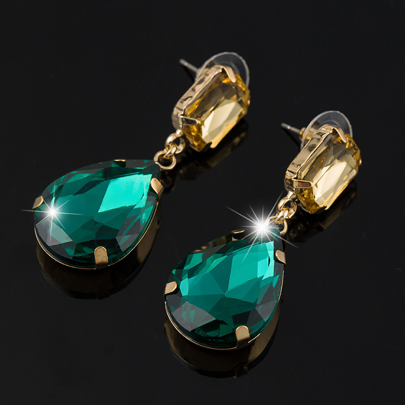 Fashion 10 Colors Drop Earrings For Women Bridal Engagement Earring Wholesale High-Quality Jewelry Factory Price