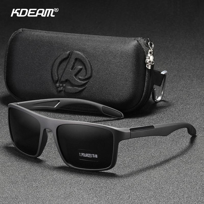 KDEAM Rectangular Ultra Light TR90 Sunglasses Men Polarized TAC 1.1mm Thickness Lens Driving Sun Glasses Women Sports Cat.3 3