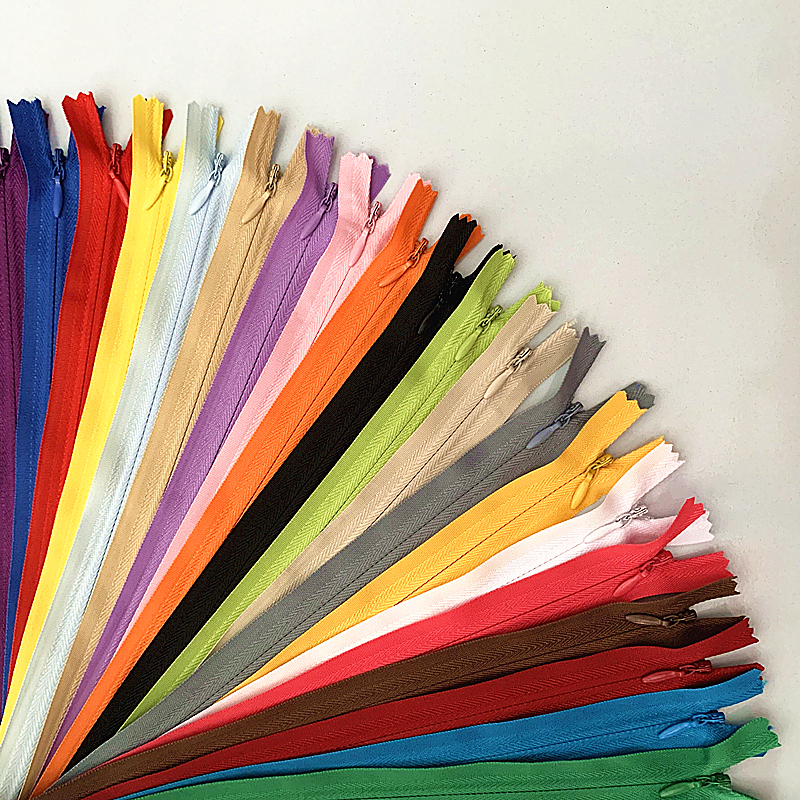 10 шт 3 # скрытая молния 20-60 см (8-24 дюйма) Портной процесс шитья DIY, нейлоновое швейное кольцо на молнии