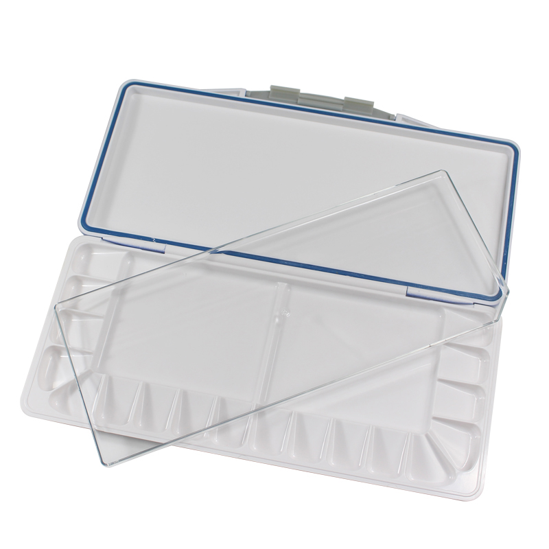 High Quality Empty Watercolor Palette Paints Tins Box For Professional Art Painting Palette Supplies Acrylic Moisturizing