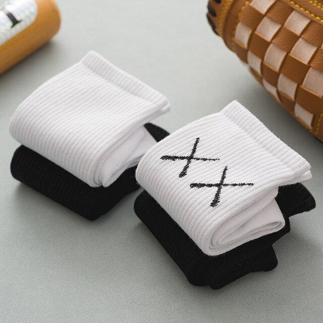Socks autumn and winter ins pure cotton women's Solid Color Soft Fashion girls black white lolita funny korean 3