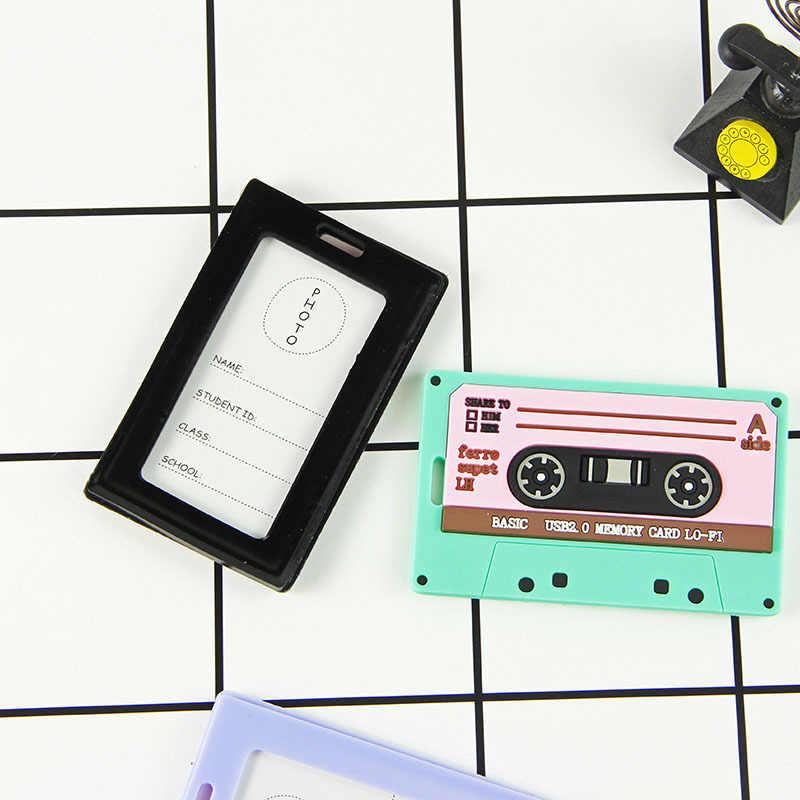 P80 müzik bant çok fonksiyonlu cüzdan kart tutucu Pp şeffaf su geçirmez yemek kartı otobüs kartı koruyucu kılıf ile kordon