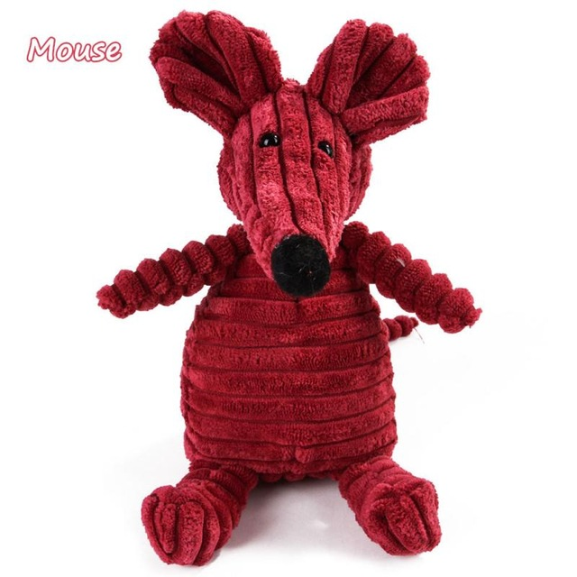 Corduroy Dog Toys for Small Large Dogs Animal Shape Plush Pet Puppy Squeaky Chew Bite Resistant Toy Pets Accessories Supplies 12