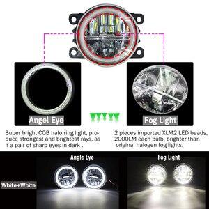 Image 2 - Cawanerl 2 個車の Led 電球 4000LM フォグライト + 天使アイデイタイムランニングライト DRL 用 12 フォードエクスプローラ 2011 2012 2013 2014
