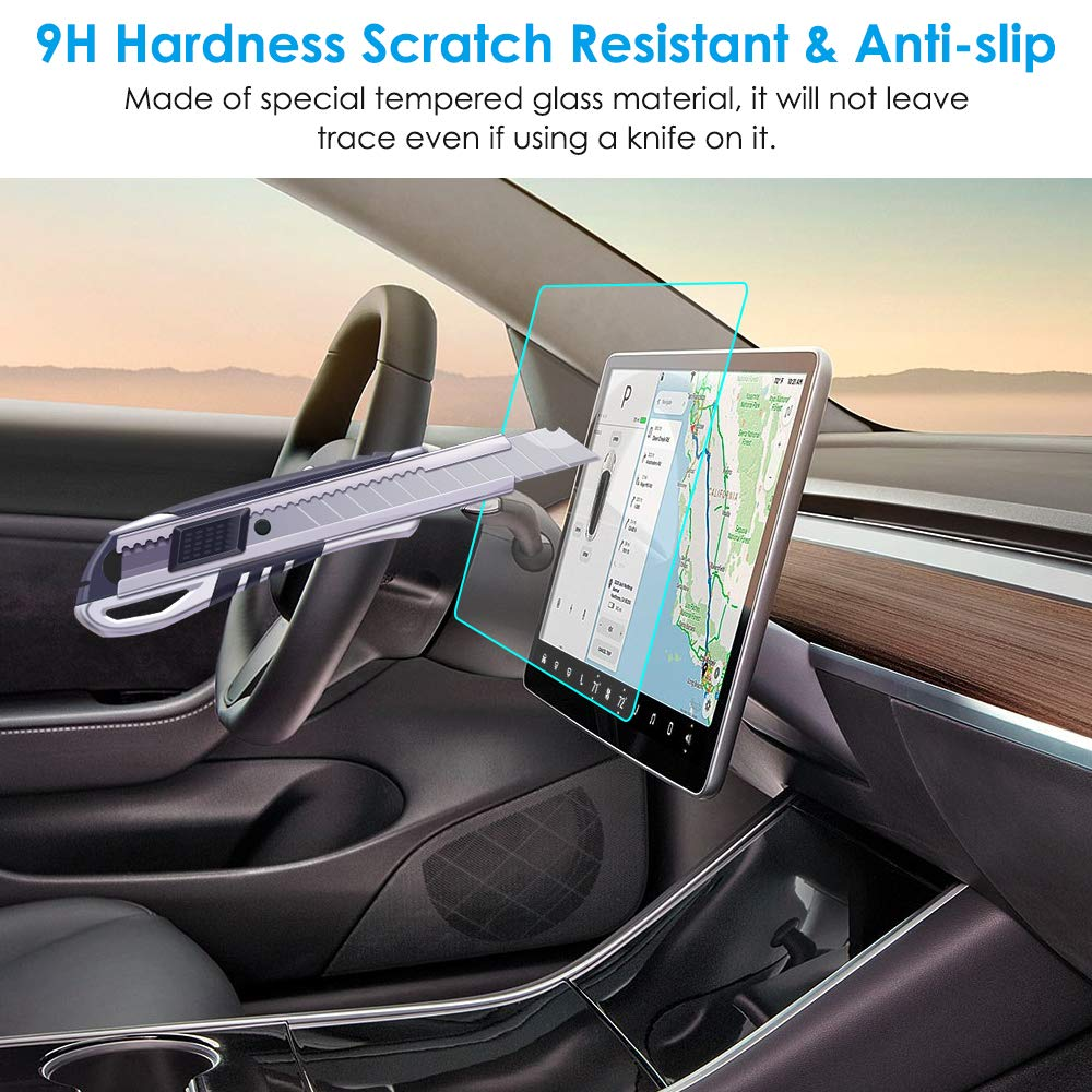 lowest price TEY Model 3 15inch Center Control Touchscreen Car Navigation Touch Screen Protector P50 P65 P80 P80D 9H Tempered Glass
