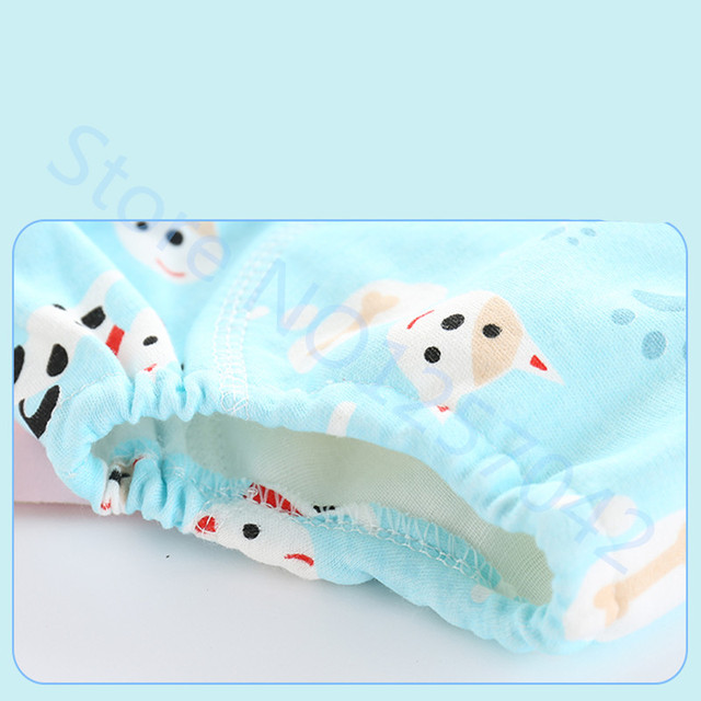Cute Baby Diapers Reusable Nappies Cloth Diaper Washable Infants Children Baby Cotton Training Pants Panties Nappy 2