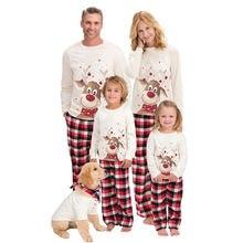 2020 Семейные сочетающиеся рождественские пижамы Новогодняя
