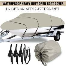 210D 11 13Ft 14 16Ft 17 19Ft 20 22Ft Heavy Duty Boat Cover Waterproof Anti UV Fish Ski  Marine Trailerable V Hull Marine Cover