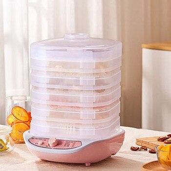 Deshidratador De Alimentos para mascotas, Máquina secadora De Alimentos, aperitivos, 5 bandejas,...