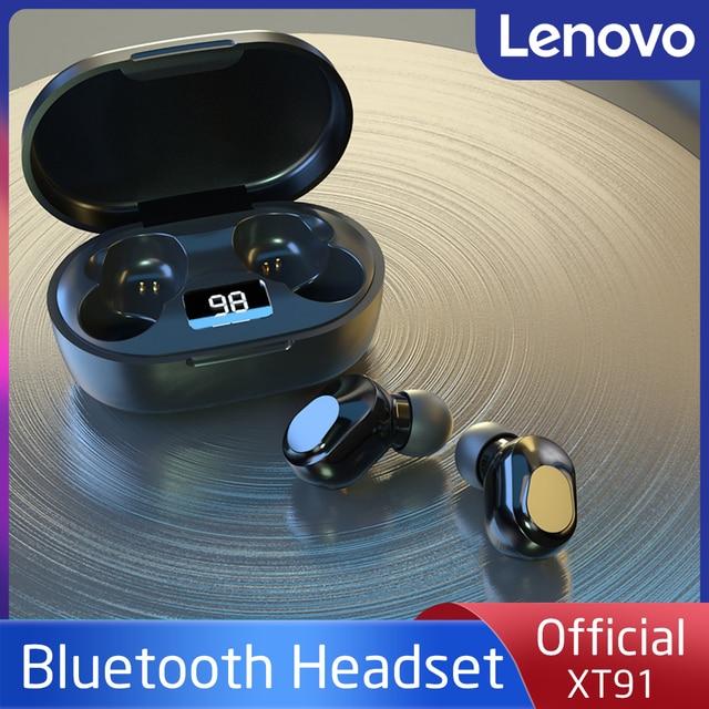 Lenovo – écouteurs sans fil Bluetooth à commande tactile, oreillettes de jeu, de Sport, de réduction du bruit, LED, étanches, XT91