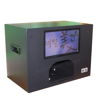 free shipping flowers and nails printing machine with computer and touch screen flowers printer