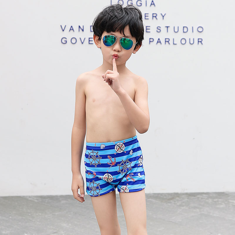 2019 New Style Hot Sales KID'S Swimwear Cartoon Small Children Swimming Trunks Ultra-stretch Quick-Dry Cartoon Hot Springs BOY'S