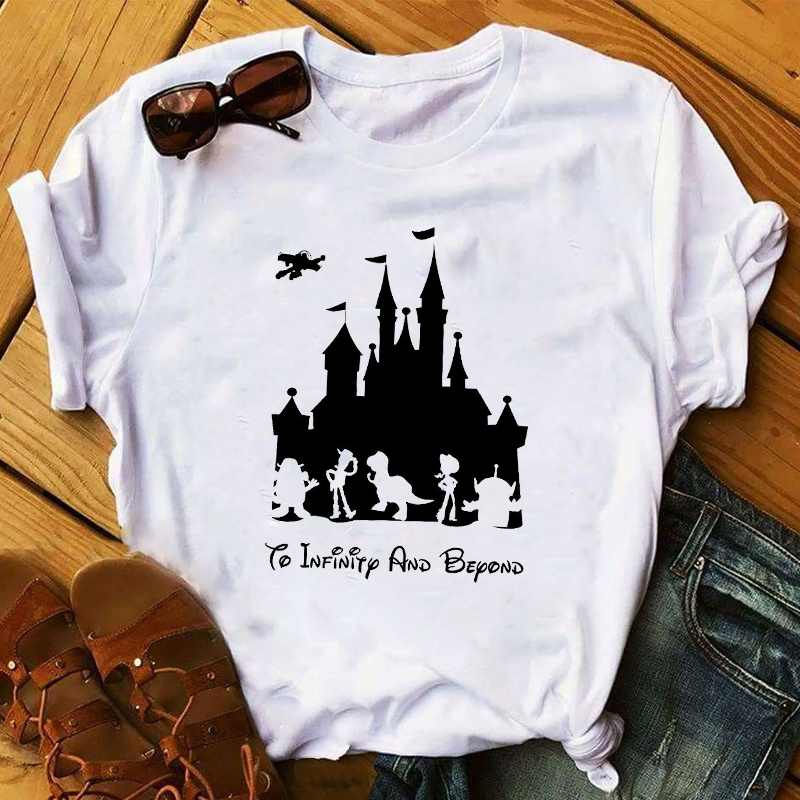 Women 2020 Cartoon Toy Story Castle Printed Fashion Lady Ladies Graphic Female Womens Top T Shirt T-shirts Tee T-Shirt