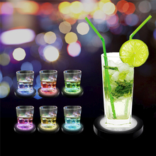 10pcs Gravity sensor switch Luminous Base Crystal Glass Transparent Objects Display Laser Cocktail Led lamp base Bar supplies