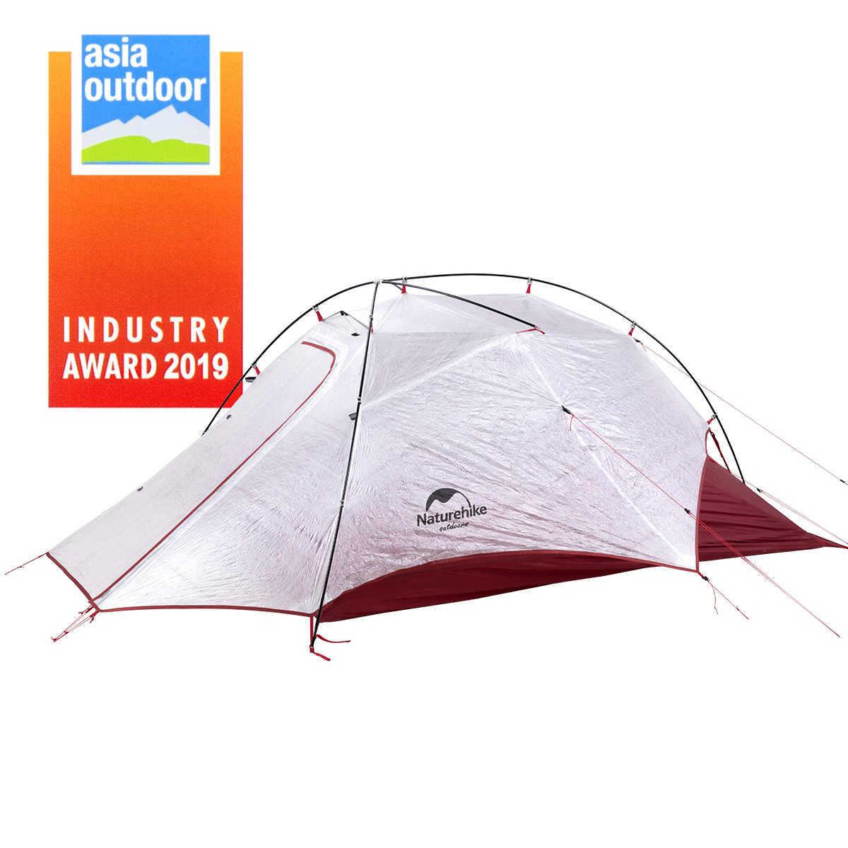 Naturetrekking nouvelle aile de nuage 2/15D nylon 2 personnes tente de camping ultralégère extérieure avec tapis mieux que nuage vers le haut 2/pic de nuage 2