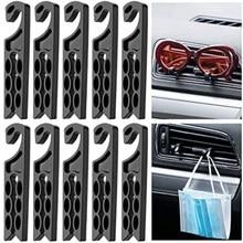 Gancho de almacenamiento de desechos para salida de aire de coche, ganchos multiusos, soporte ventilación para coche, soporte para teléfono, auricular, bobinador, gafas, máscaras, gancho, 10 Uds.