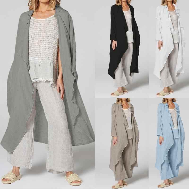 Celmia Vintage Kimono Delle Donne Manica Lunga Camicette casual Sciolto Beach Long Cardigan Solido 2020 Autunno Camicette Più Il Formato S-5XL Magliette e camicette