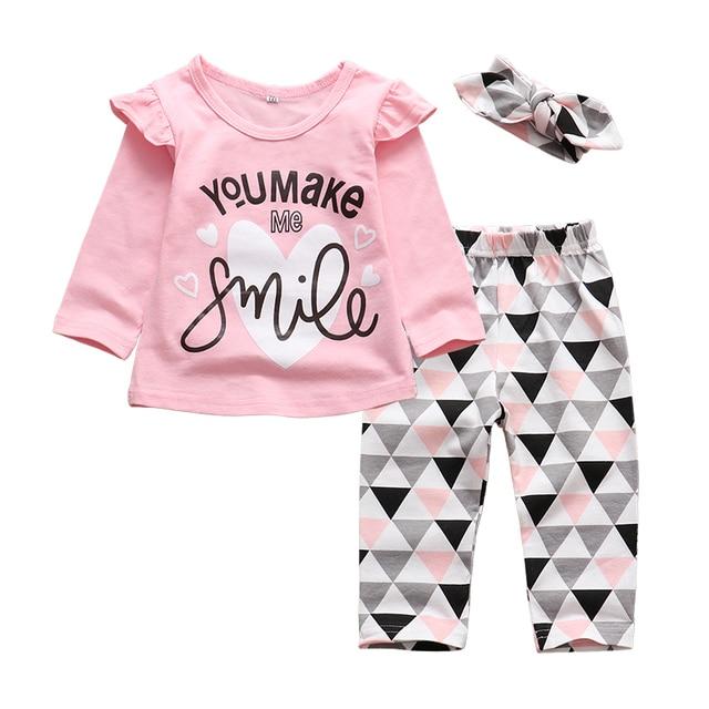 3Pcs Newborn Baby Girl Clothes Set  2