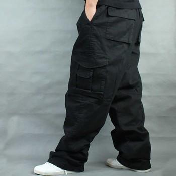 Szerokie nogawki spodnie w stylu hip hop mężczyźni dorywczo bawełniane spodnie Harem Cargo luźne luźne spodnie Streetwear Plus Size biegaczy mężczyzn odzież tanie i dobre opinie ANPOETCHY Cargo pants Wysoka Pełnej długości TS 316 e00 FD b7000 Plisowana Poliester COTTON Midweight Kieszenie Suknem