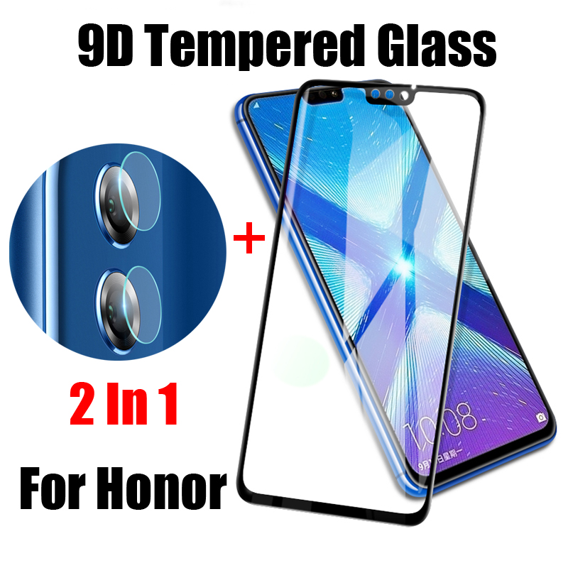 2 in 1 Tempered Glass For Huawei Honor 8C 7C 8X 7A 7X 6X 7 Play Note 10 Protective Glass Back Camera Lens Film Screen Protector image