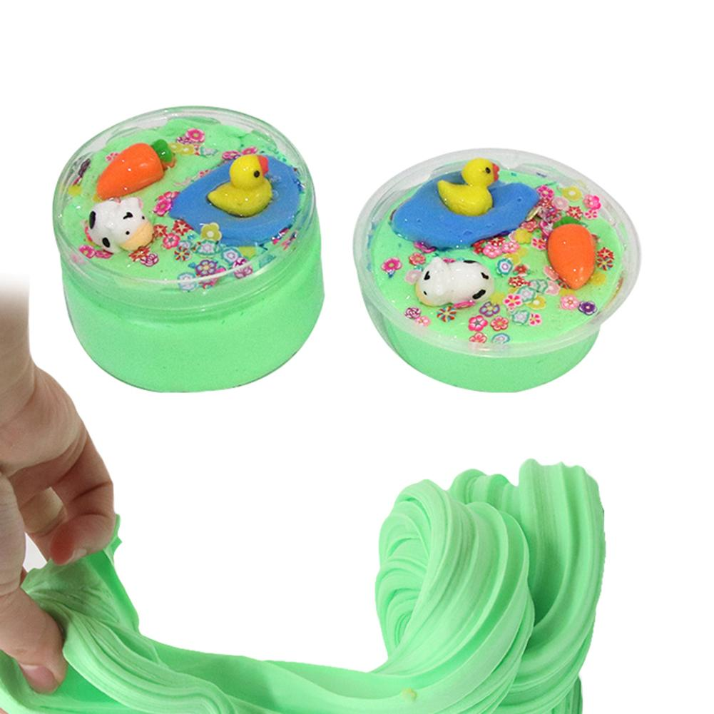 <font><b>Duck</b></font> Animal Flower Cotton Mud Puff <font><b>Slime</b></font> Toy DIY Carfts Gift Stress Reliever image