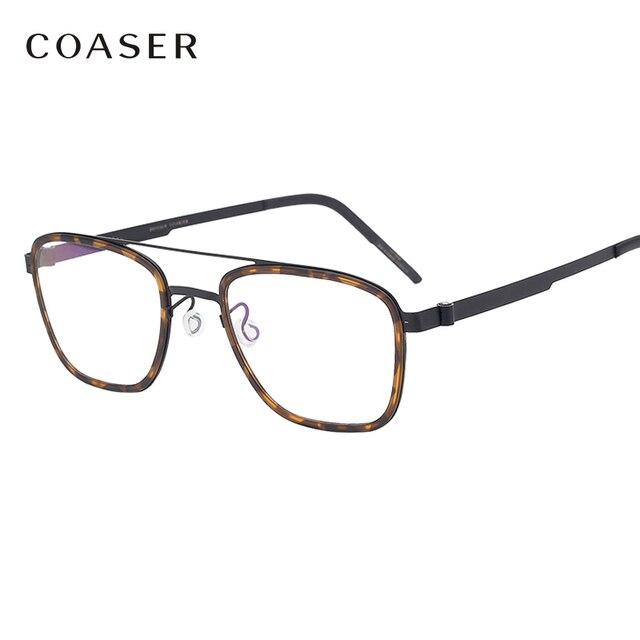 Gafas de titanio para hombre, lentes con montura de marca de Dinamarca, diseño Vintage, redondas, graduadas, para miopía, de metal