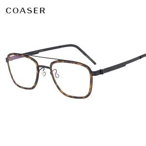 Image 1 - NEW Men eyeglasses Titanium Glasses Frame Denmark Brand Design Vintage Round prescription optical  Myopia eyewear metal