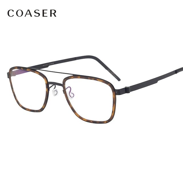 NEW Men eyeglasses Titanium Glasses Frame Denmark Brand Design Vintage Round prescription optical  Myopia eyewear metal