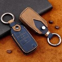 Echtes Leder Handmade Auto Schlüssel Abdeckung schlüssel Fall Für Roewe RX5 i6 ERX5 i5 RX8 RX3 für MG6 MG ZS EV EZS HS EHS 3 taste-in Schlüsseletui für Auto aus Kraftfahrzeuge und Motorräder bei