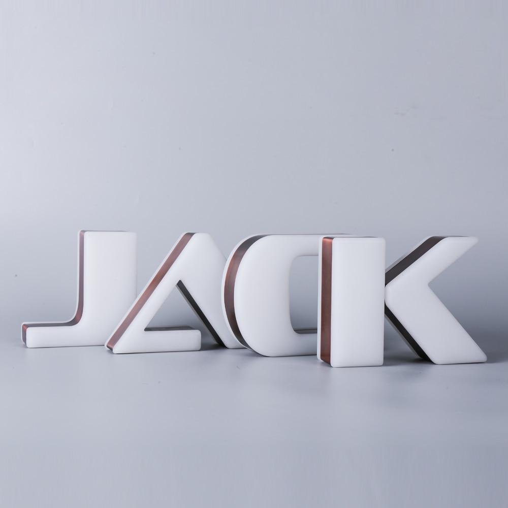 Personalized Double Sides Illuminated Bronze Side Edge Corporate Signage Design